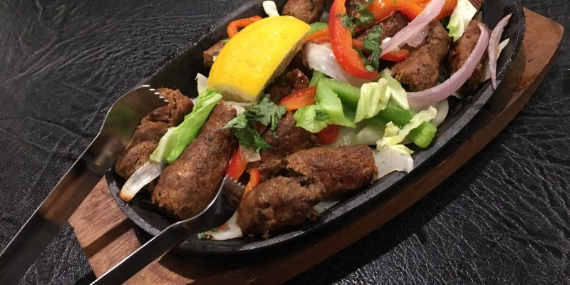 Seekh Kabab served on a hot plate. Photo | Bryan Donoghue