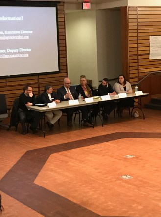 The housing reentry roundtable talking about housing facilities in Humboldt county. Photo courtesy of Vanessa Vrtiak.