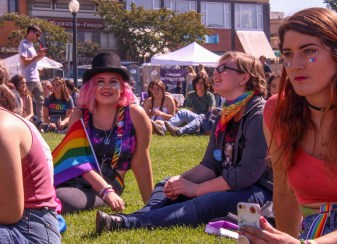Sophia Escudero attended Humboldt pride at the Arcata Plaza.   Kyra Skylark