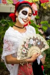 HSU senior student Sarahi Apaez before her dance performance at the Dia De Los Muertos festival last Thursday at Humboldt State University. *Sarahi Apaez is The Lumberjack Video Editor