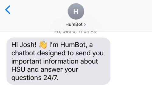HumBot Says Hello