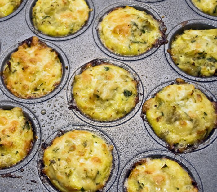 Yakima Valley Artichoke Appetizer after Baking in a Mini Muffin Pan