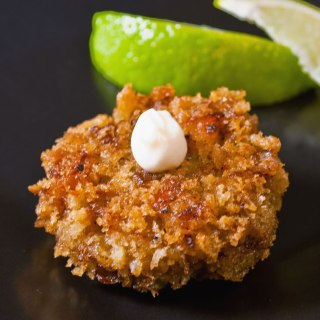 Curried Seafood Cakes with Fresh Ginger Aioli