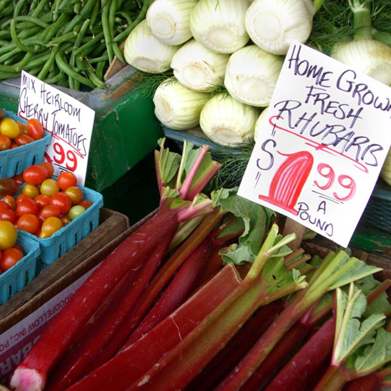 Rhubarb for Sale at Pike Place Market
