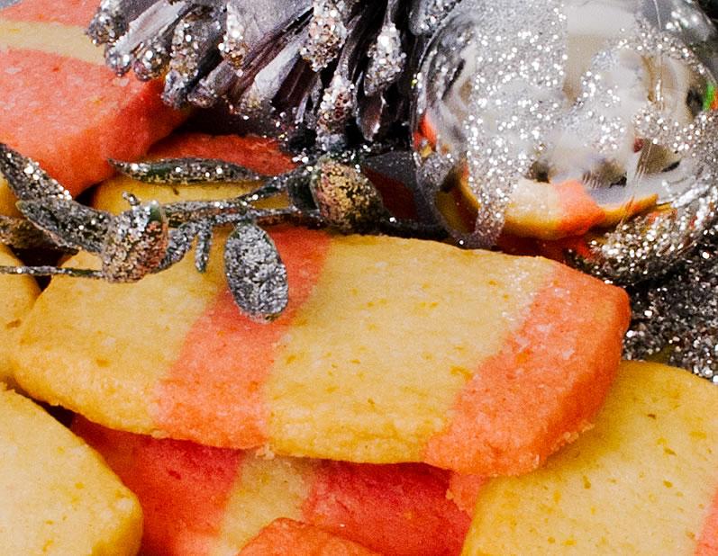 Mary's Christmas Quilt Cookies (Cinnamon Hot & Orange Shortbread)