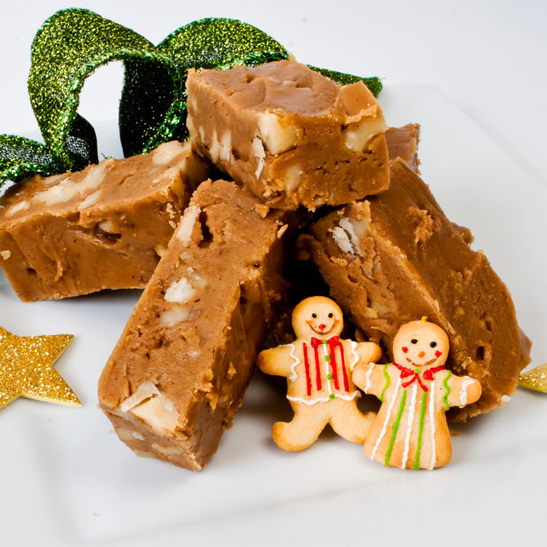 Dreamy Creamy Gingerbread Fudge: Two Ways