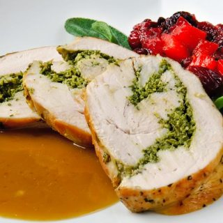 Dry-Cured Breast of Turkey Roulade with Autumn Herbs