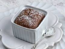 Closeup of Warm-Spiced Molten Chocolate Cake