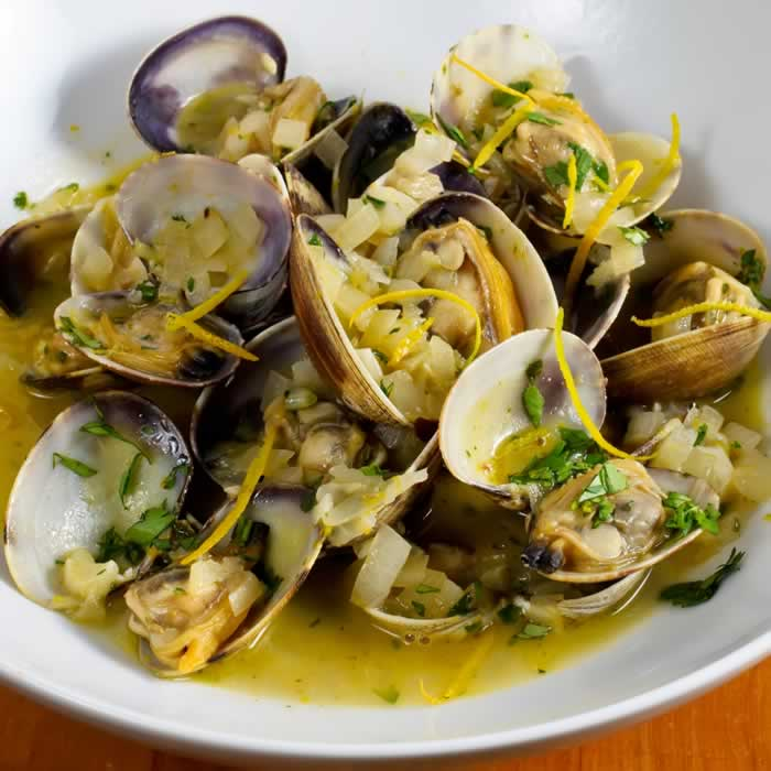 Steamed Manila Clams with Green Curry, Chili, Basil & Lemongrass ...