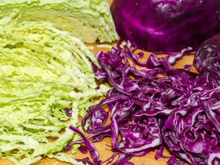 Cabbage Slaw with Ginger Lime Dressing