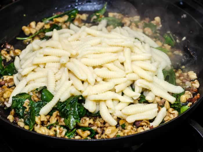 RRicotta Cavatelli with Toasted Walnuts & Bitter Greens | LunaCafe