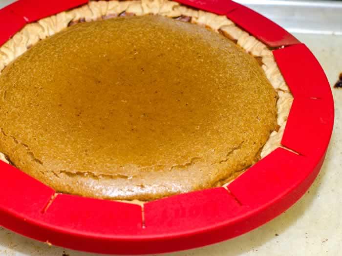 Perfect Sweet Potato Pie with Pie Crust Edge Protector