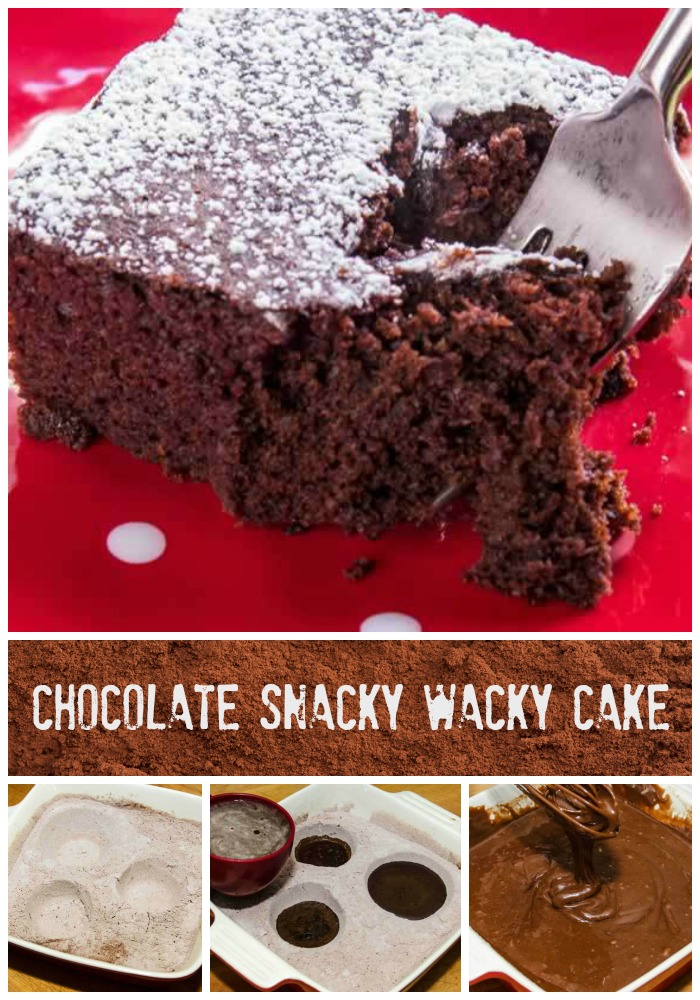Chocolate Snacky Wacky Cake
