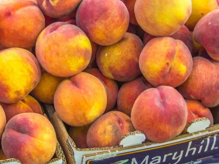 O'Henry Peaches for Peach & Blackberry Pie with Coconut Streusel