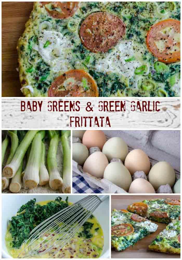 Baby Greens & Green Garlic Frittata   LunaCafe