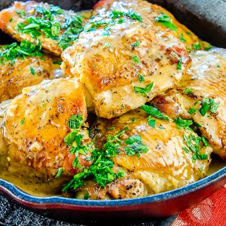 Sauteed Chicken Thighs with Savory Herbs & Garlic ala Julia Child