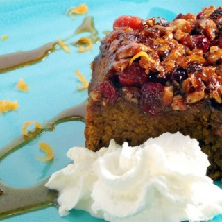 Spiced Pumpkin Sour Cream Upside-Down Coffee Cake