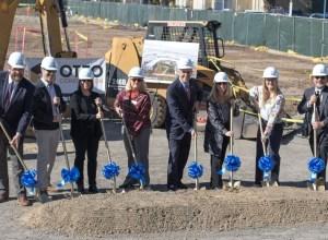 Groundbreaking ceremony for Academic III building.