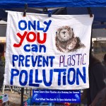 "Sign at Whalefest reading: ""Only you can prevent plastic pollution"""