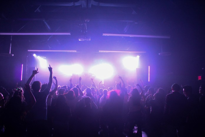 Crowd at CSUMB's Winterlands concert.