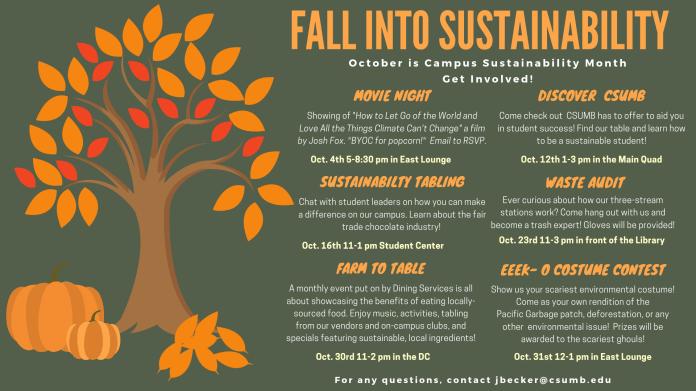 Nov01_Sustainability Department _Campus Sustainability Month