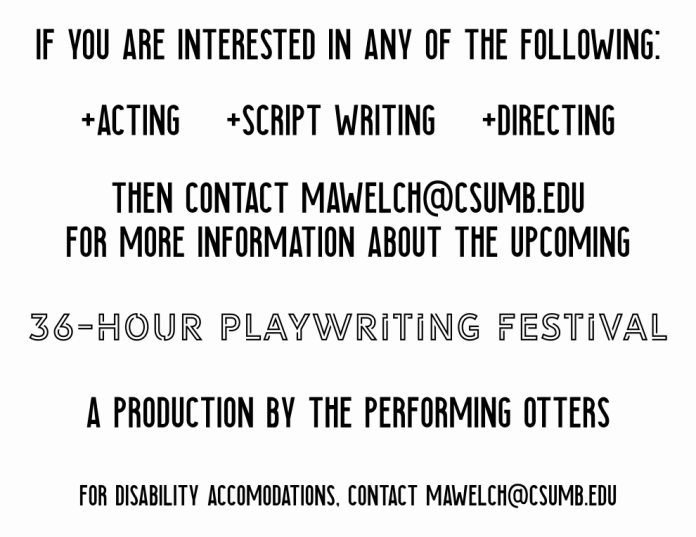 Oct18_Performing Otters, The_36-Hour Playwriting Festival Application
