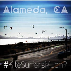 Kite Surfers in Alameda, CA