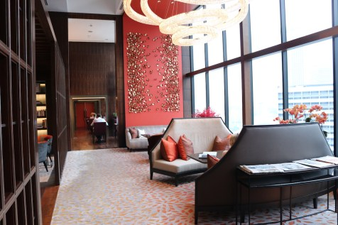 Oriental Club lounge at 19th floor