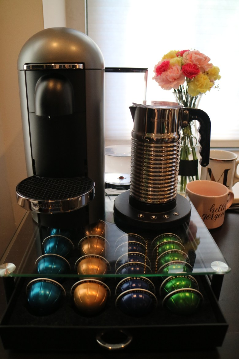 nespresso set up front