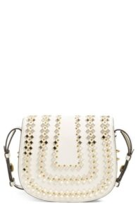 Tory Burch Mirror Embellished Leather Crossbody