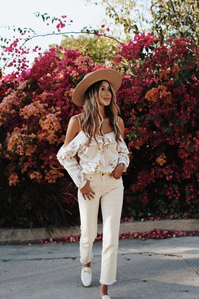 "LUX Magazine white_denim California Fashion Icon Style | JulieSariñana ""Sincerely Jules"""