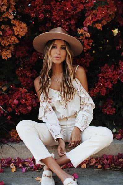 "LUX Magazine white_denim5 California Fashion Icon Style | JulieSariñana ""Sincerely Jules"""