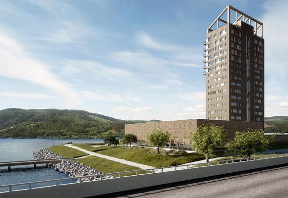 El edificio de madera con mejores vistas de Noruega