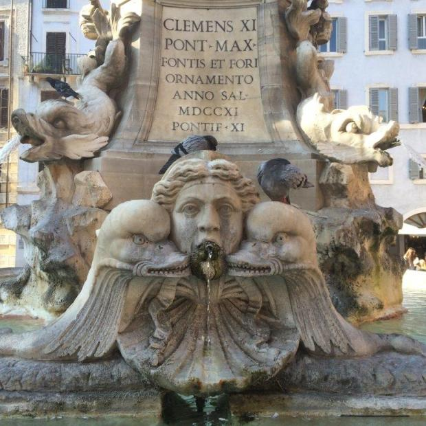 Pantheon fountain