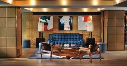 Lobby Blue Sofa