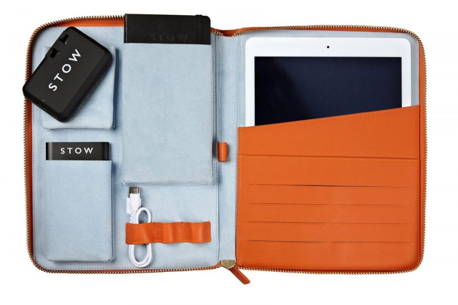 World Class Travel Accessories by Stow   The Luxury Lifestyle Magazine World Class Tech Case   Amber Orange  1    RRP     450