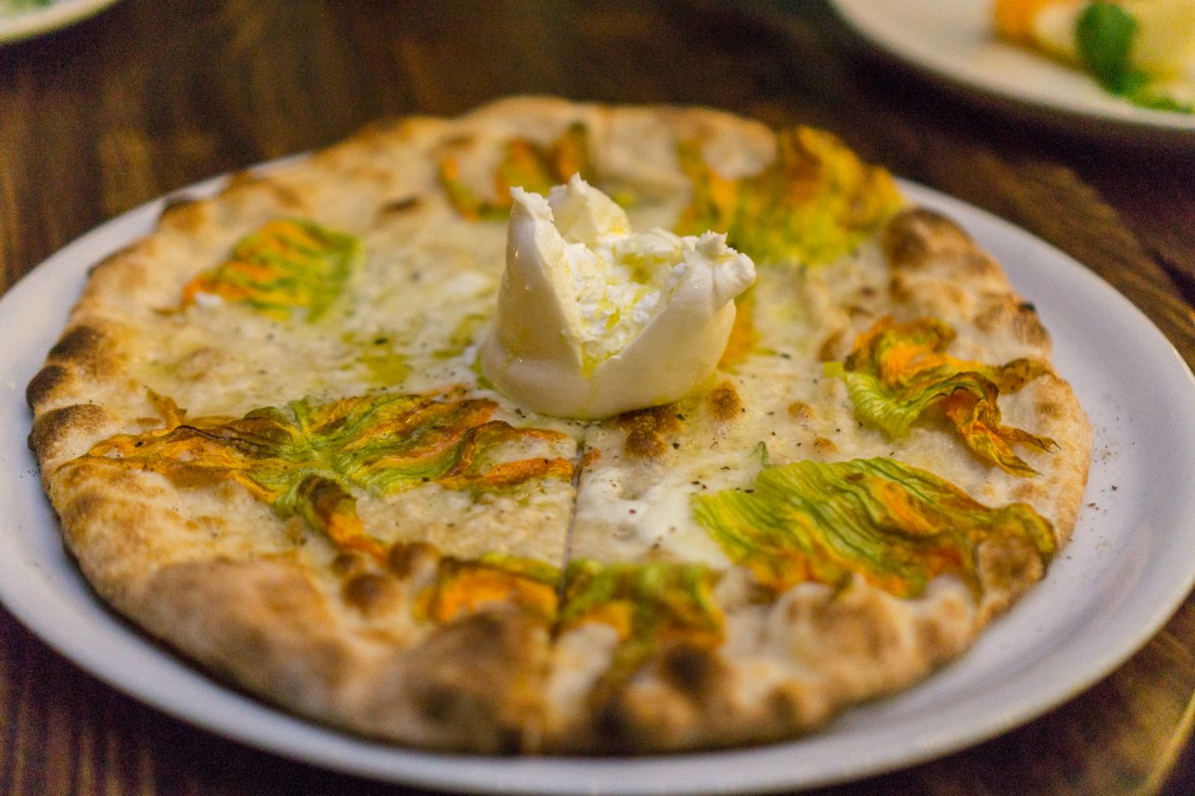 Fingers Crossed Pizza (Fiori Di Zucca or Squash Blossom)