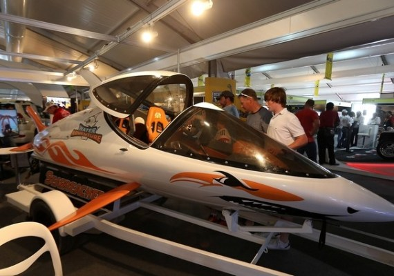 Customers at the Big Boys Toys exhibition
