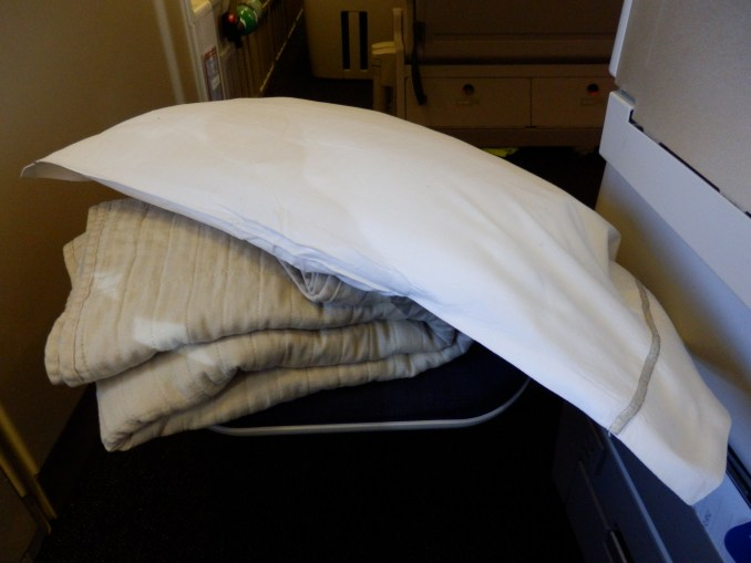 BRITISH AIRWAYS CLUB WORLD PILLOW AND BLANKET