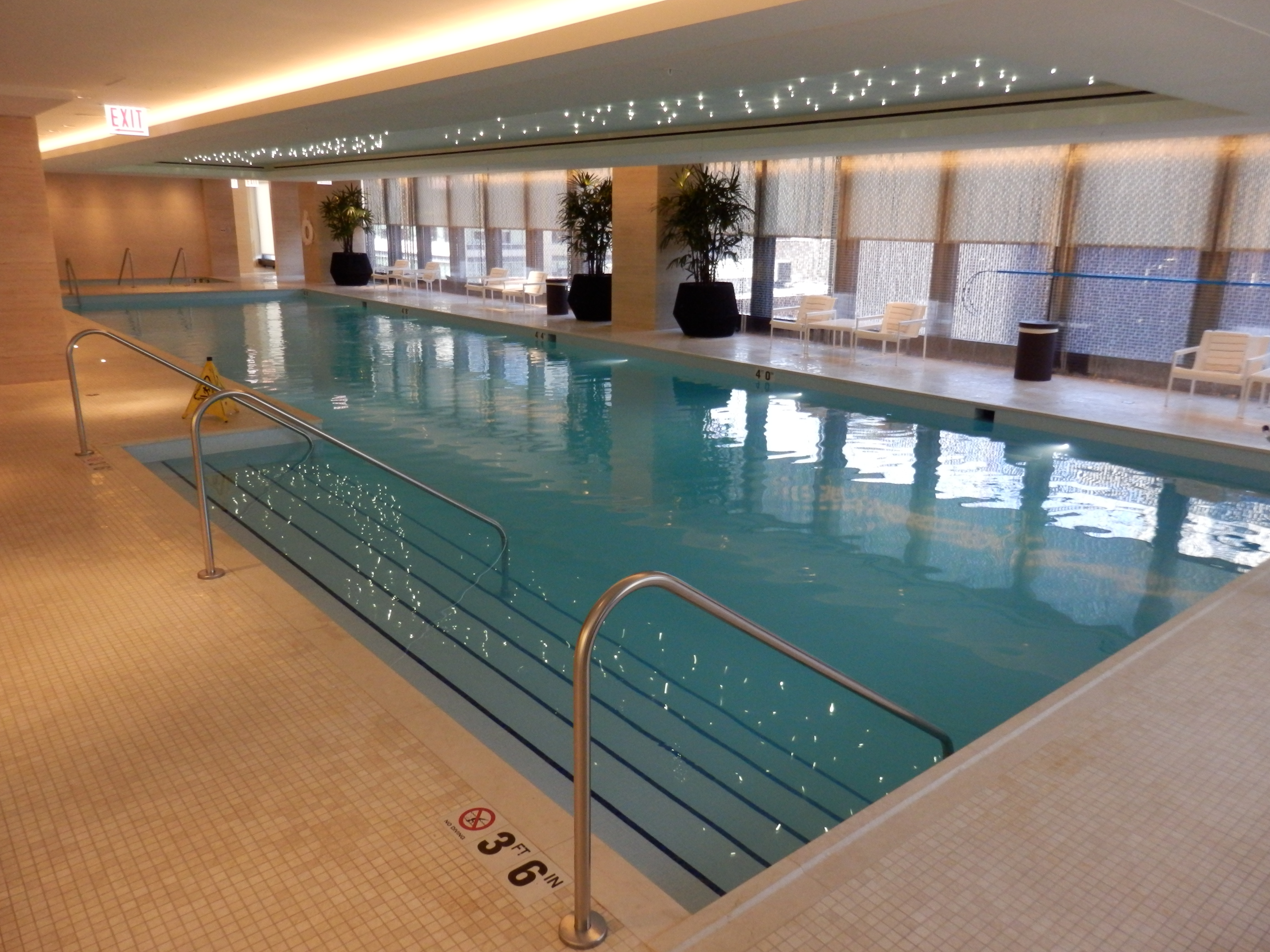 Swimming Pool Travel : Hotel review the langham chicago usa luxury