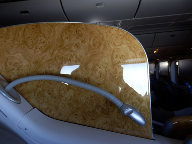 BUSINESS CLASS SEAT 9K: PRIVACY SCREEN
