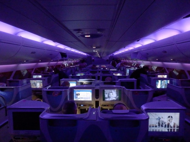 BUSINESS CLASS: MAIN CABIN WITH MOOD LIGHTING