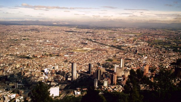 AERIAL VIEW OF BOGOTA, COLUMBIA
