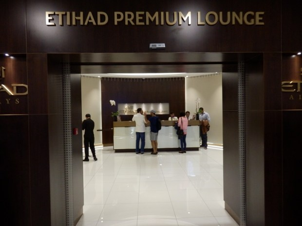 ETIHAD PREMIUM LOUNGE AT ABU DHABI INTERNATIONAL AIRPORT