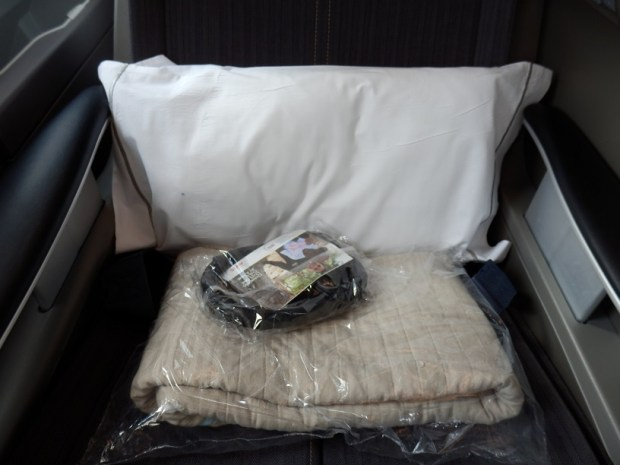 PILLOW, BLANKET AND NOISE CANCELING HEADPHONES