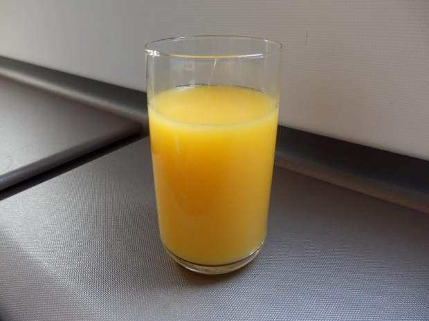 ORANGE JUICE BEFORE TAKE-OFF