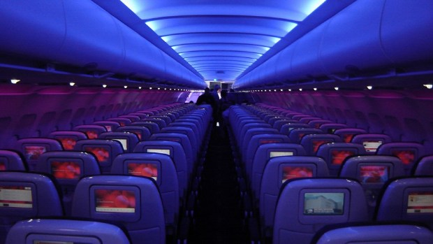 VIRGIN AMERICA AIRBUS A320 CABIN