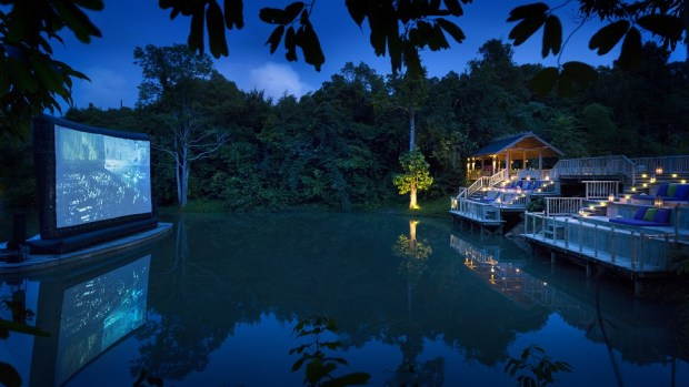 ENJOY YOUR PRIVATE, OUTDOOR JUNGLE CINEMA AT SONEVA KIRI, THAIILAND