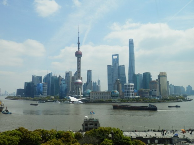 VIEW OF PUDONG SKYLINE FROM ROOM