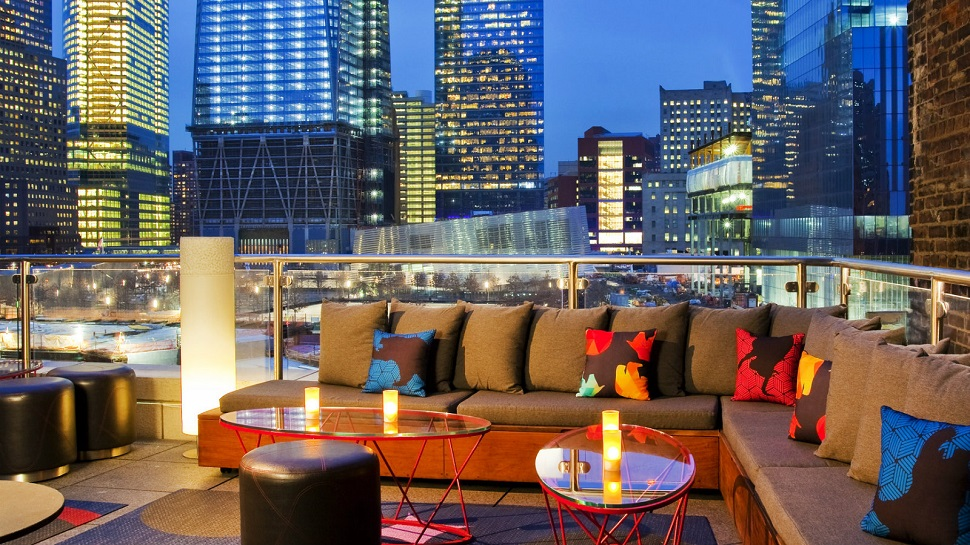 Top 10 best rooftop bars in new york city the luxury for W living room lounge